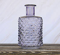 Ваза Леони сиреневое  стекло h21см d12см  1004893-2 сирень