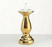 Підсвічник малий һ20см золото кераміка 1016371