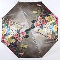 Сатиновый зонт антиветер с цветами Lamberti  (полный автомат) арт. 73744-4, фото 1