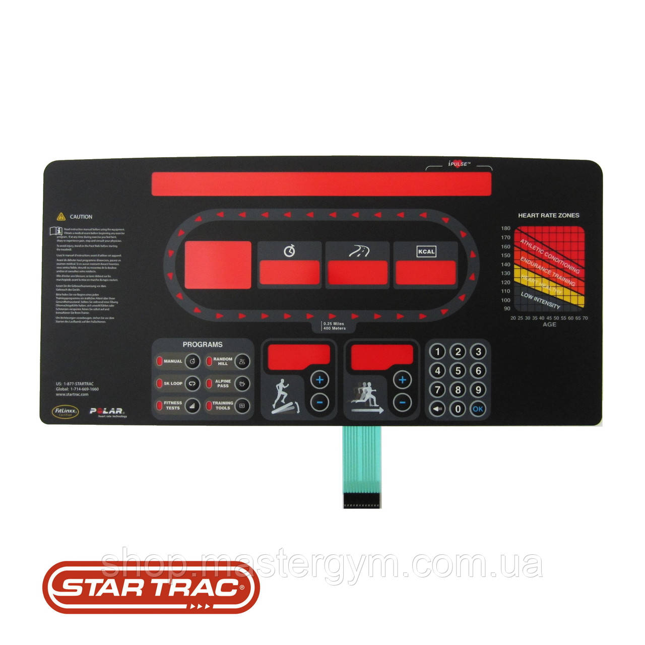 Накладка клавиатуры дисплея Star Trac E-TRx Gen2