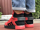Мужские кроссовки Adidas Tubular зимние на меху красные, фото 8
