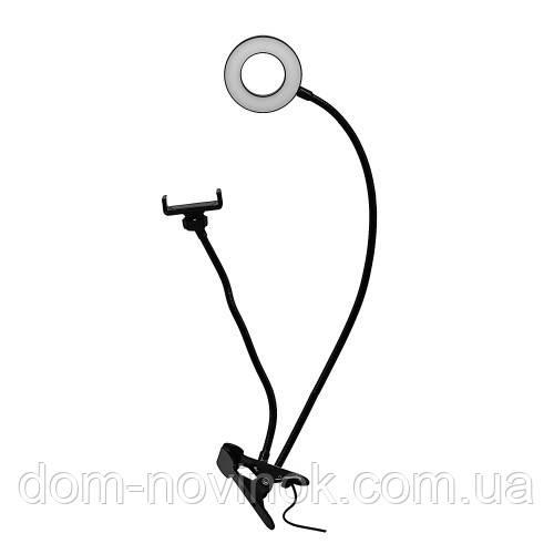 Лампа кольцевая с зажимом для телефона Yre RK-17