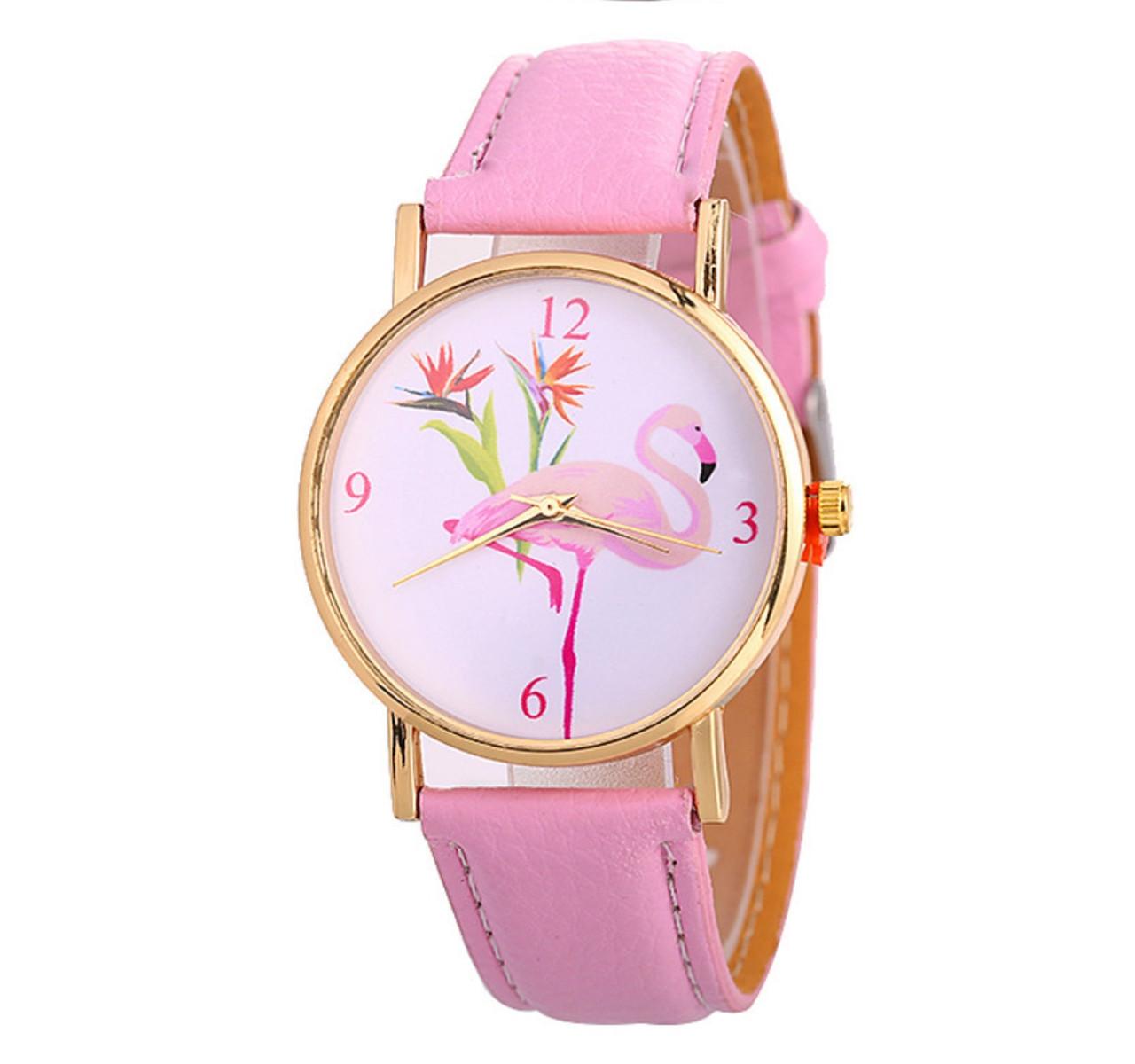 Часы женские фламинго