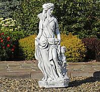 Садовая статуя Богиня охоты  27x20x83 см  ССП12041 Серый