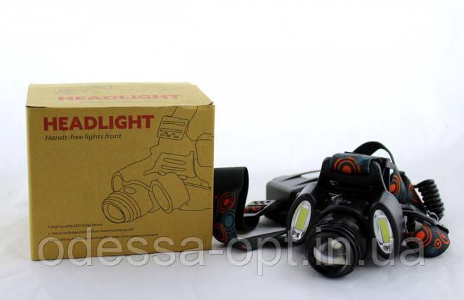 Налобный фонарь BL 862 T6+COB 3861, фото 2