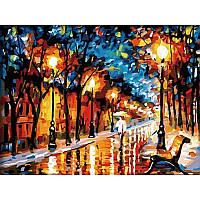"""Картина по номерам 40*50 см """"Осенний вечер"""" художник - Афремов, фото 1"""