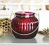 Подсвечник лакированное стекло h11см красный  1015549-3К