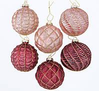 Набор новогодних шаров из 6-ти шт стекло микс d8см Boltze 2003782