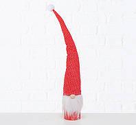 Новорічна статуетка Гном білий/червоний h45 см 2006469, фото 1