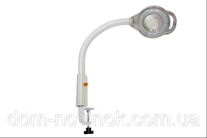 Лампа-лупа світлодіодна на кронштейні з кришкою