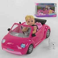 Лялька 88004 (24) машина, вихованець, в коробці