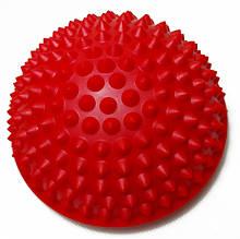 Полусфера массажная балансировочная (подушка массажер для ног и стоп) OSPORT (OF-0059) Красный