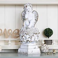 Ангел на цветке 37 см  СП504-2 золото