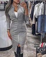 Стильное женское платье замшевое