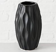 Ваза Янина черная керамика h12см  2002760