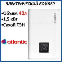 Бойлер 40 литров Atlantic Vertigo Steatite Essential 50 (1500W). Электрический водонагреватель с сухим ТЕНом