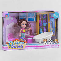 """Кукла с мебелью 8102 В (24/2) """"Ванная комната"""", мебель, аксессуары, в коробке"""