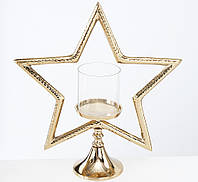 """Підсвічник """"STARLIFE"""" алюміній шампанське һ43см Boltze 2004265, фото 1"""
