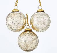 Набор новогодних шаров из 3-х шт стекло шампанское d10см Boltze 2004334