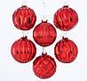 Набор новогодних шаров из 6-ти шт стекло красный d8см Boltze 2003370