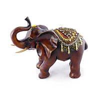 Фігура слона з прикрасами, хобот до верху 35см H2449-3B