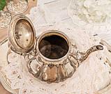 Посріблений англійська заварювальний чайник, сріблення, мельхіор, EPNS Англія, фото 7