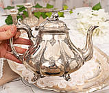 Посріблений англійська заварювальний чайник, сріблення, мельхіор, EPNS Англія, фото 6