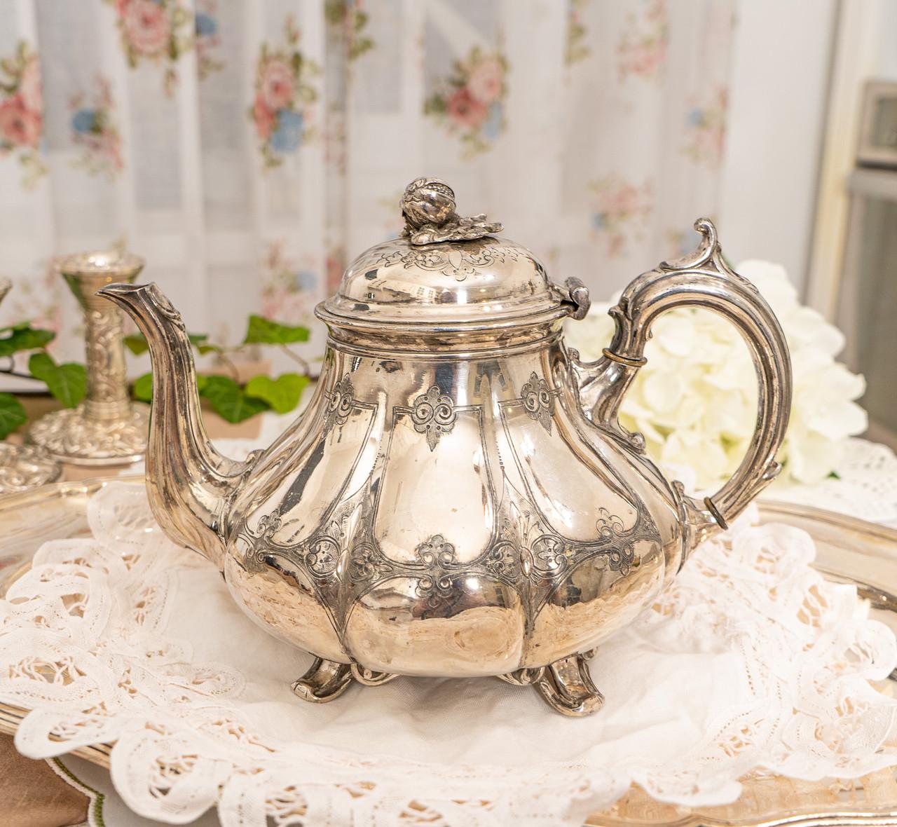 Посріблений англійська заварювальний чайник, сріблення, мельхіор, EPNS Англія