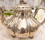Посріблений англійська заварювальний чайник, сріблення, мельхіор, EPNS Англія, фото 2