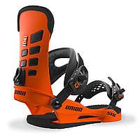 Яркие оранжевые крепления для сноуборда Union STR