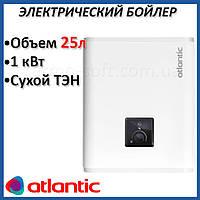 Бойлер 25 литров Atlantic Vertigo Steatite Essential 30 (1000W). Электрический водонагреватель с сухим ТЕНом