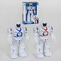 Робот 6032 (24/2) 2 цвета, ходит, подсветка, звуковые эффекты, в коробке