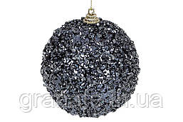Елочный шар 8см, цвет - полуночный синий (16шт)