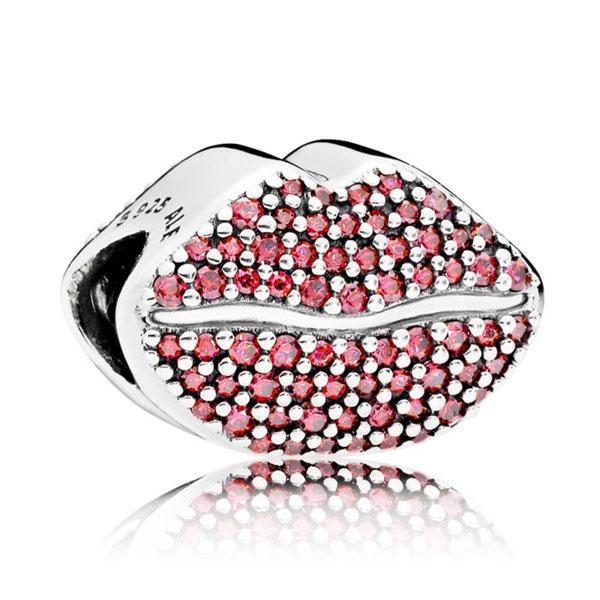 Пандора Бусина Любовь и Поцелуи (губки) Pandora 796562CZR