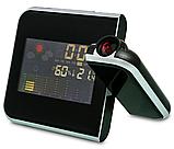 Часы метеостанция с проектором времени на стену Color Screen 8190 календарь, фото 9