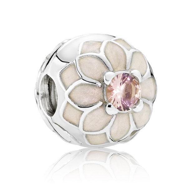 Пандора Клипса из серебра Цветущий георгин Pandora 791828NBP