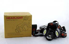 Налобный фонарь BL 862 T6+COB 3861