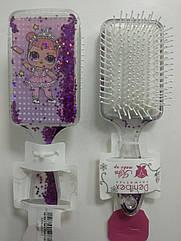 Расчёска массажная для волос KIKA LOL детская 2119 LR