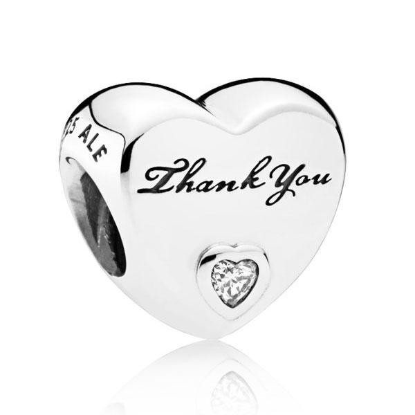 "Пандора Подвеска-шарм ""Спасибо"" Pandora 792096CZ"