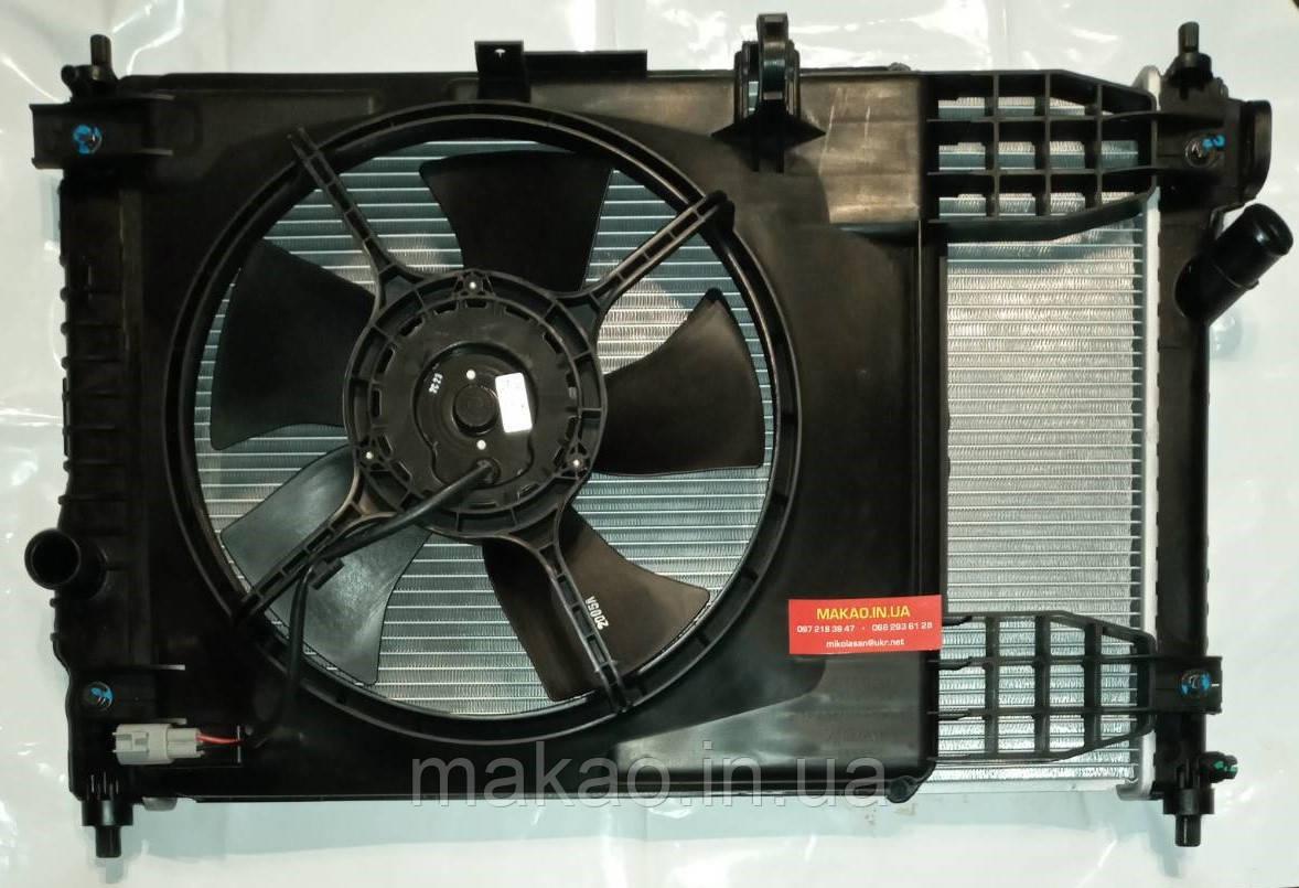 """Радіатор охолодження в сборі з вентилятором Chevrolet Aveo T250/T255; ZAZ Vida 1.5 8V. Виробник """"GM"""" оригінал"""