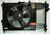 """Радіатор охолодження в сборі з вентилятором Chevrolet Aveo T250/T255; ZAZ Vida 1.5 8V. Виробник """"GM"""" оригінал, фото 1"""