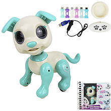 Робот собака інтерактивна іграшка на пульті управління гавкає стрибає арт.8315A