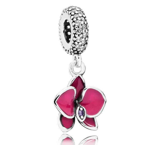 Пандора Подвеска-шарм Орхидея Фиолетовая Pandora 791554EN69