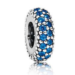 """Пандора Разделитель """"Сверкающее синее Pave"""" Pandora 791359NCB"""