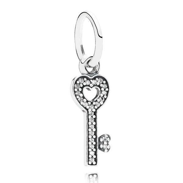 Пандора Серебряная подвеска в форме ключика Pandora 791353CZ