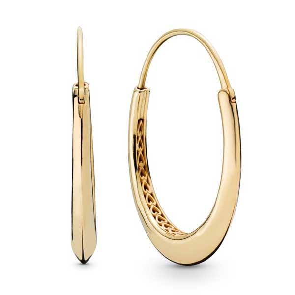 Пандора Серьги Экзотические кольца Shine Позолота Pandora 268070