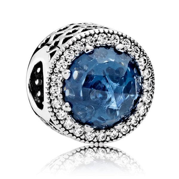 Пандора Синие сияющие сердца Pandora 791725NMB