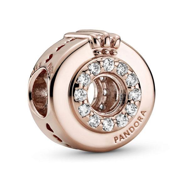 """Пандора Шарм """"Корона-кольцо О с паве"""" Rose Pandora 789059C01"""