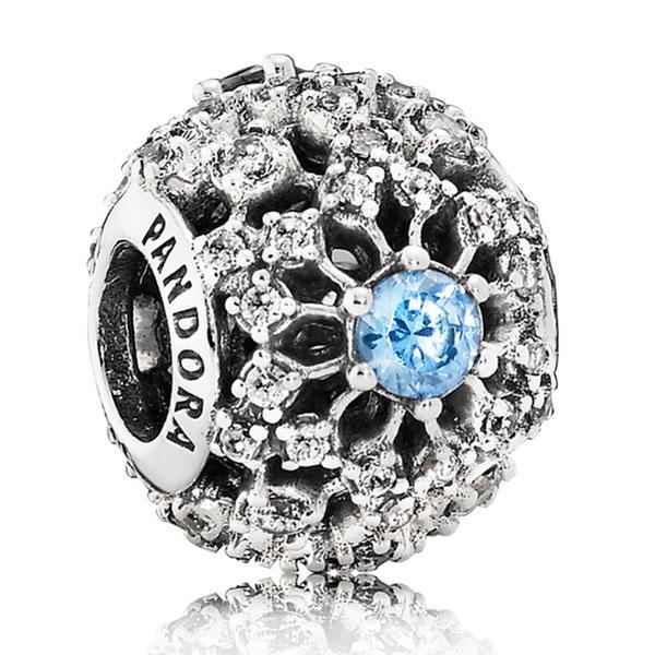 Пандора Шарм «Дисней  Голубая Снежинка» Pandora 791592CFL