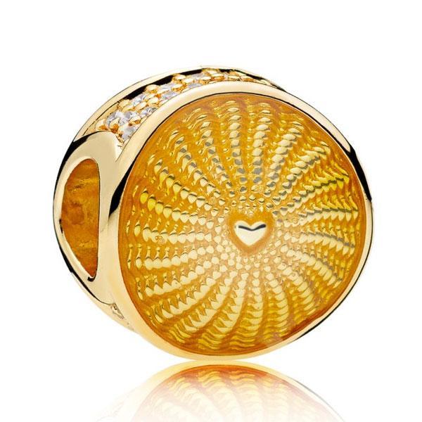 Пандора Шарм «Луч солнца» Позолота Pandora 767128EN158